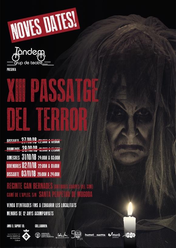 Cartell - XIII Passatge del terror - Noves dates